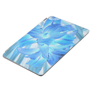 Ethereal Blue Lily, Winter Floral Fantasy iPad Air Cover