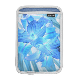 Ethereal Blue Lily, Winter Floral Fantasy iPad Mini Sleeve