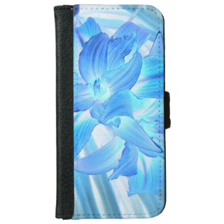 Ethereal Blue Lily, Winter Floral Fantasy iPhone 6 Wallet Case