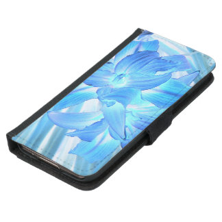Ethereal Blue Lily, Winter Floral Fantasy Samsung Galaxy S5 Wallet Case