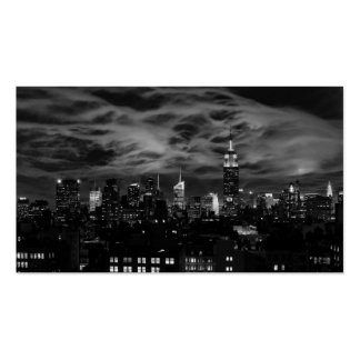 Ethereal Clouds: NYC Skyline, Empire State Bldg BW Pack Of Standard Business Cards