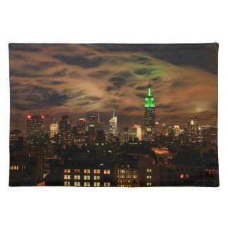 Ethereal Clouds: NYC Skyline, Empire State Bldg Place Mats