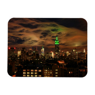 Ethereal Clouds: NYC Skyline, Empire State Bldg Rectangular Magnet