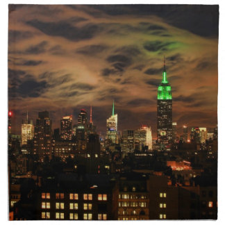 Ethereal Clouds: NYC Skyline, Empire State Bldg Printed Napkins