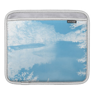 Ethereal Fantasy Blue, White Winter River iPad Sleeve
