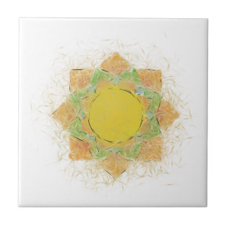 Ethereal Lotus Flower Ceramic Tiles