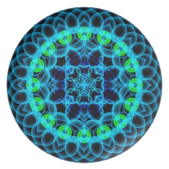 Ethereal Lotus Mandala Plate