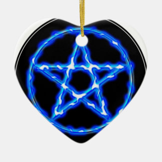 Ethereal Pentacle Ceramic Heart Decoration