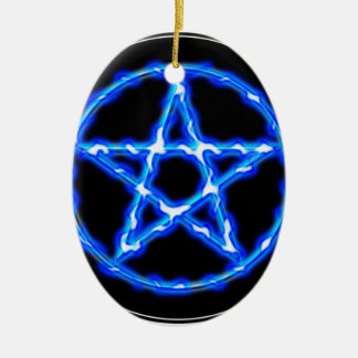 Ethereal Pentacle Ceramic Oval Decoration