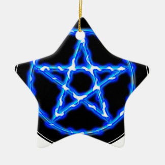 Ethereal Pentacle Ceramic Star Decoration