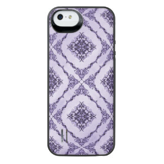 Ethereal Purple and Lavender Fractal Design iPhone SE/5/5s Battery Case