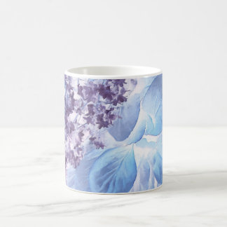 Ethereal Winter Purple and Blue Flora Coffee Mug