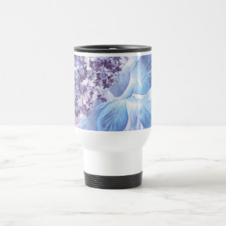 Ethereal Winter Purple and Blue Flora Travel Mug