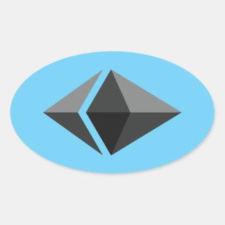 Ethereum Oval Sticker