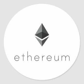 Ethereum Round Text Sticker