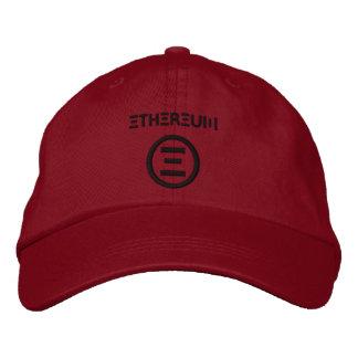 Ethereum Symbol Dark Red Baseball Cap