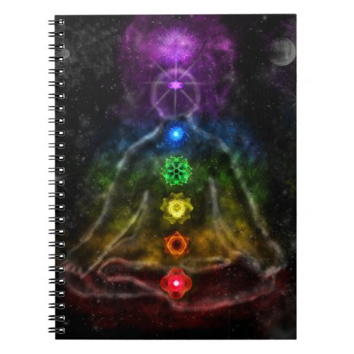 ETHERIC AURA CHAKRA SPIRAL NOTEBOOKS