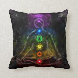 ETHERIC AURA CHAKRA THROW PILLOW