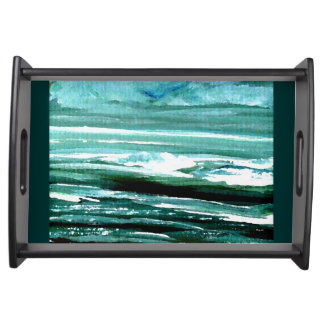 Etheric Sea Ocean Beach Seascape Breakfast Tray 1