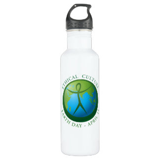 Ethical Culture Earth Day Water Bottle 24oz Water Bottle