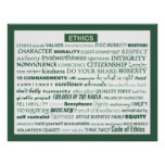 """""""Ethics Word Poster"""""""