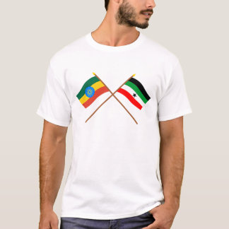 Ethiopia and Gambella Crossed Flags T-Shirt