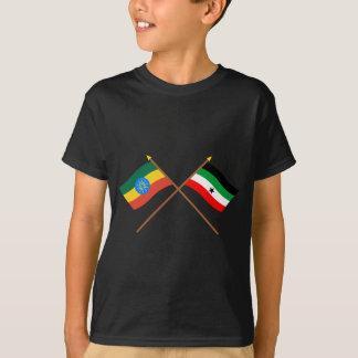 Ethiopia and Gambella Crossed Flags T-Shirt