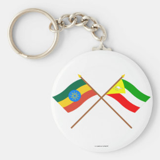 Ethiopia and Somali Crossed Flags Key Ring