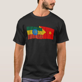 Ethiopia and Tigray Waving Flags T-Shirt