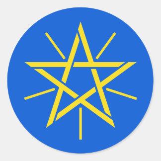 Ethiopia Coat of arms ET Classic Round Sticker