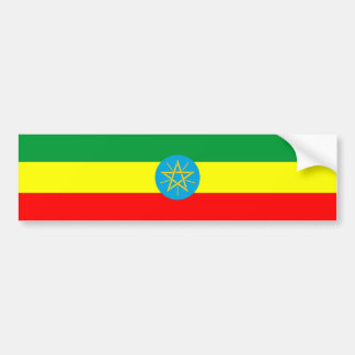ethiopia country flag long symbol bumper sticker