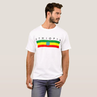 ethiopia country flag long symbol name text T-Shirt