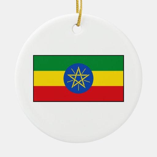 Ethiopia – Ethiopian Flag Christmas Ornament
