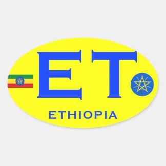 ETHIOPIA - Euro-style Oval Sticker