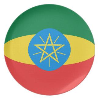 Ethiopia Fisheye Flag Plate
