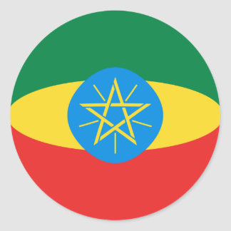 Ethiopia Fisheye Flag Sticker