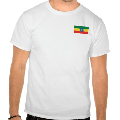Ethiopia Flag and Map T-Shirt
