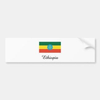 Ethiopia Flag Design Bumper Sticker