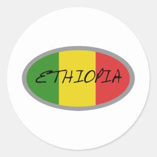 Ethiopia flag design! classic round sticker