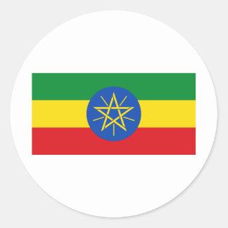 Ethiopia Flag ET Classic Round Sticker