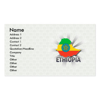 Ethiopia Flag Map 2.0 Pack Of Standard Business Cards
