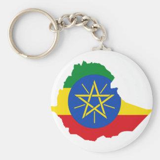 Ethiopia Flag Map ET Key Ring