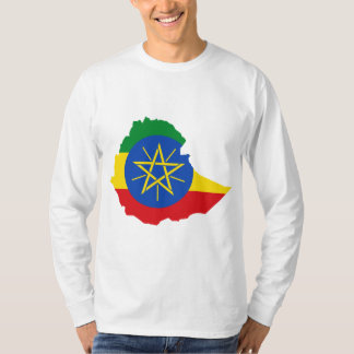 Ethiopia Flag Map ET T-Shirt