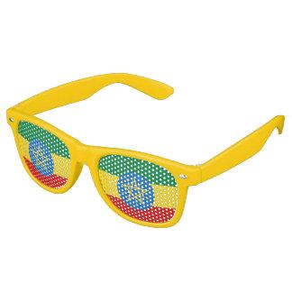 Ethiopia Flag Retro Sunglasses