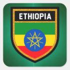 Ethiopia Flag Square Sticker