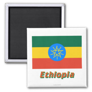 Ethiopia Flag with Name Magnet