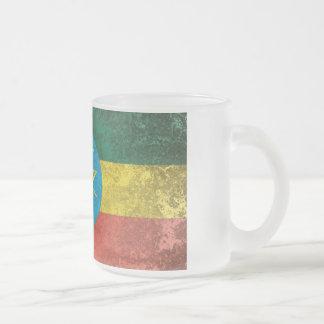 Ethiopia Frosted Glass Coffee Mug