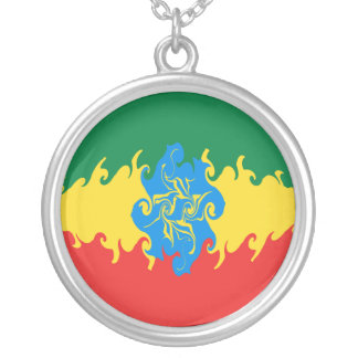 Ethiopia Gnarly Flag Silver Plated Necklace