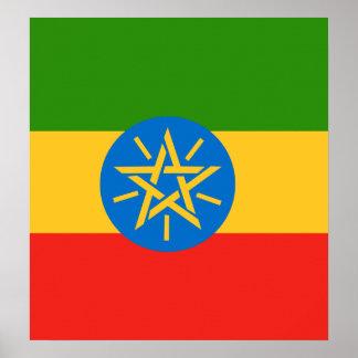 Ethiopia High quality Flag Poster