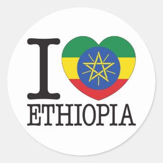Ethiopia Love v2 Classic Round Sticker
